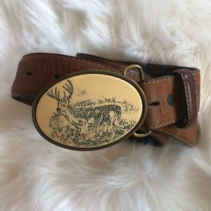 Vintage Oden Made In USA Belt And Buckle Sz 38